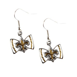 NFL New Orleans Saints Bow Tie Earrings