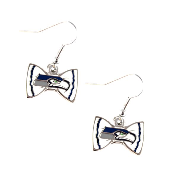 NFL Seattle Seahawks Bow Tie Earrings