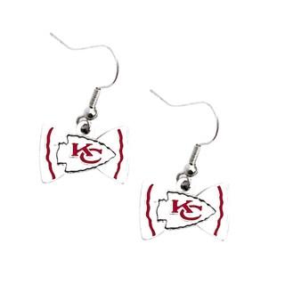 NFL Kansas City Chiefs Bow Tie Earrings