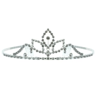 Kate Marie 'Kenya' Rhinestone Tiara with Hair Combs