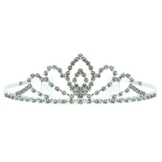 Kate Marie 'Khloe' Rhinestone Tiara with Hair Combs