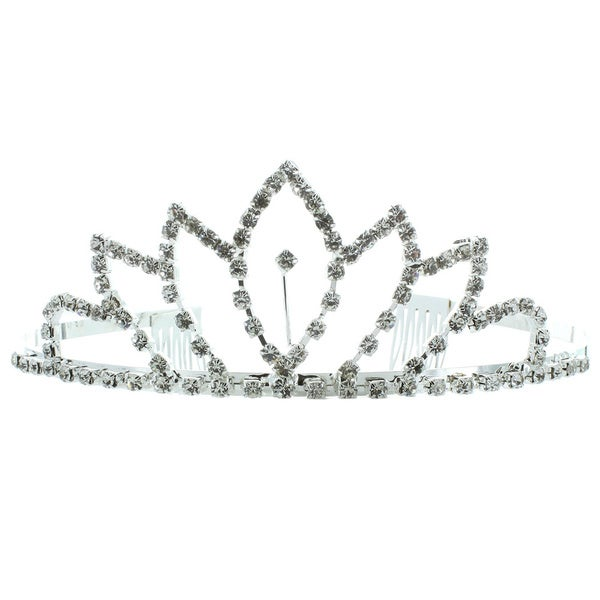 Kate Marie 'Claire' Rhinestone Tiara with Hair Combs