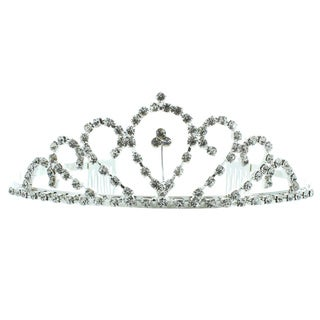 Kate Marie 'Daisy' Silvertone Rhinestone Tiara with Hair Combs