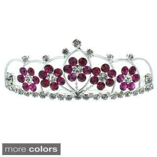 Kate Marie 'Kyle' Floral Rhinestones Tiara (5 options available)
