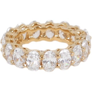 NEXTE Jewelry Oval-cut Cubic Zirconia Full Eternity Band (More options available)