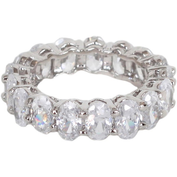 NEXTE Jewelry Oval-cut Cubic Zirconia Full Eternity Band. Opens flyout.
