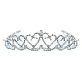 Kate Marie 'Brandi' Heart-shaped Rhinestone Tiara