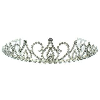 Kate Marie 'Allison' Victorian Rhinestone Tiara with Hair Combs