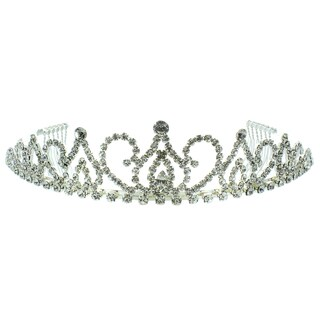 Kate Marie 'Allison' Victorian Rhinestone Tiara with Hair Combs