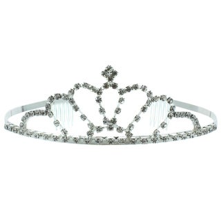 Kate Marie 'Alexis' Rhinestone Crown Tiara with Hair Combs