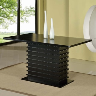 Black Stacked Wood Dinette Table