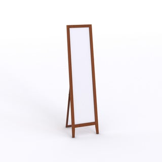 Standing Wood Rectangle Mirror