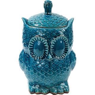 Blue Large Owl Vase