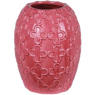 Pink Oval Ceramic Vase