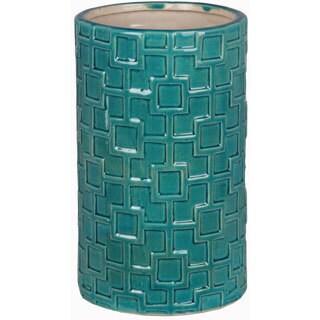 Turquoise Small Ceramic Weave Vase