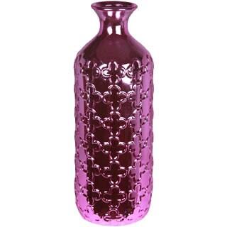 Metallic Purple Large Ceramic Vase