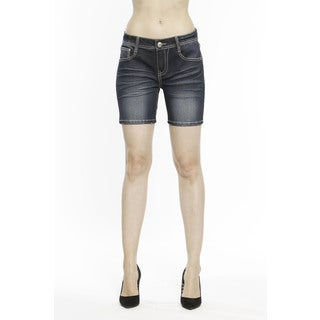 RED by Rose Royce Women's 'Chantall' Dark Wash 6-inch Shorts