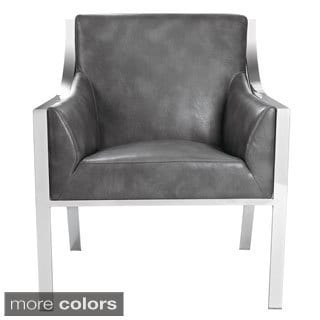 Sunpan 'Club' Hyde Leather Armchair