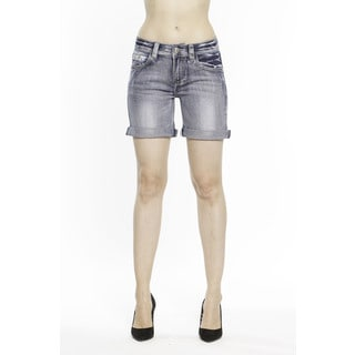 RED by Rose Royce Women's 'Sarah' Light Wash 6-inch Shorts