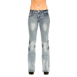 RED by Rose Royce Women's 'Sarah' Light Wash Distressed Boot Cut Jeans
