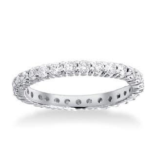 14k white gold 1ct tdw diamond eternity wedding ring - White Gold Wedding Rings For Women