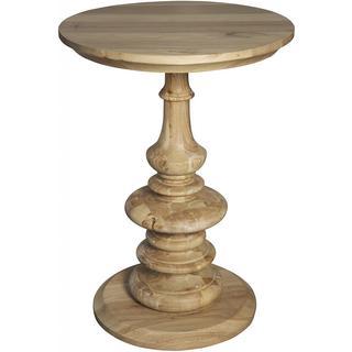 Old Elm Natural Pedestal Side Table