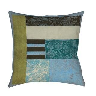 Seafoam Throw Pillow or Floor Pillow (Art by Jennifer Goldberger)