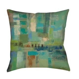 Seawall Throw Pillow or Floor Pillow (Art by Silvia Vassileva)