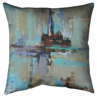 Fjord Throw Pillow or Throw Pillow (Art by Silvia Vassileva)