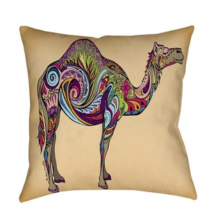 Thumbprintz Camel Throw Pillow or Floor Pillow