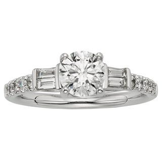Sofia 18k White Gold 1 1/4ct TDW IGL Certified Diamond Engagement Ring (F, SI1-SI2)