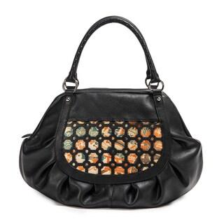 Wa Obi Sylvia Large Black Leather Carry All Shoulder Bag