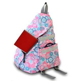 JWorld New York Lemon Print Kitten 19-inch Sling Backpack