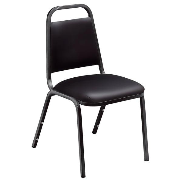 Genial Standard Black Vinyl Upholstered Stack Chairs (Pack Of 12)