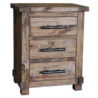 Weathered Pine Country 3-drawer Side Cabinet