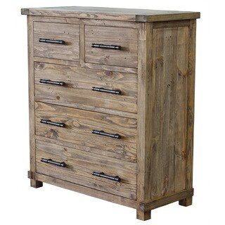 Weathered Pine Country Chest Cabinet