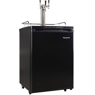 EdgeStar Black Full Size Triple Tap Kegerator with Digital Display Sold by Living Direct
