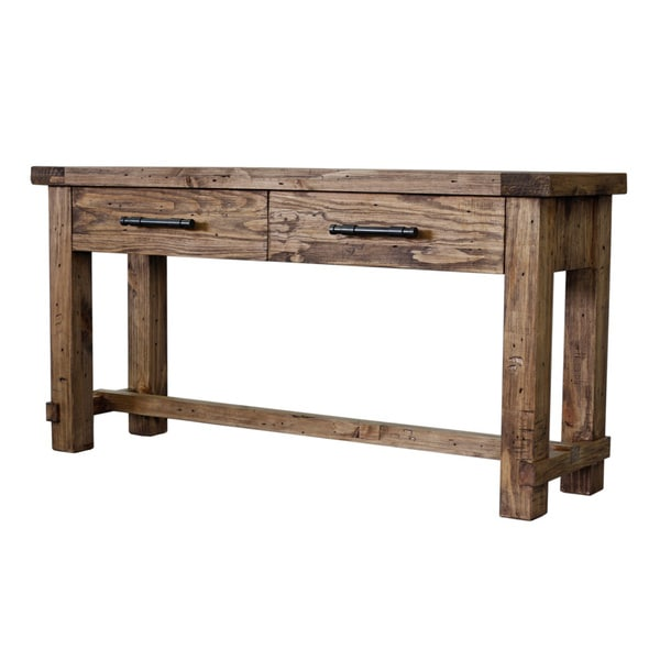 Country Weathered Pine Sofa Table
