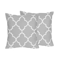 nursery p square gray collection arrow pillows wanderlust in crib throw pillow