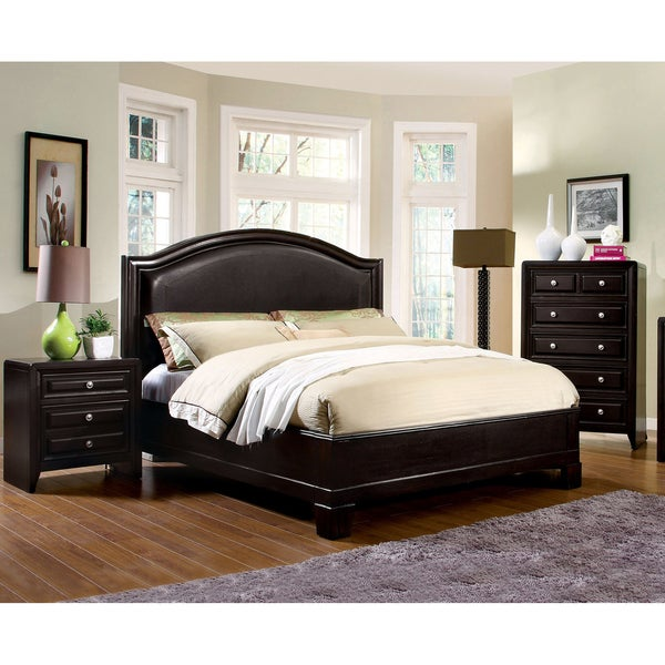 Furniture of America Ceb Transitional Espresso 3-piece Bedroom Set