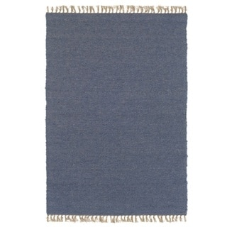 Linon Verginia Berber Denim Blue Area Rug (7'10 x 10'4)