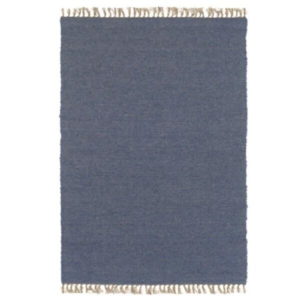 Shop Linon Verginia Berber Denim Blue Area Rug 7 10 X 10