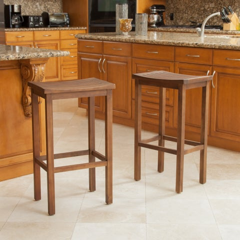 Easton 30-inch Slat Barstool (Set of 2) by Christopher Knight Home