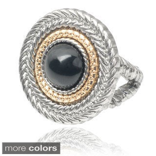Journee Collection Silver-tone Statement Stretch Ring