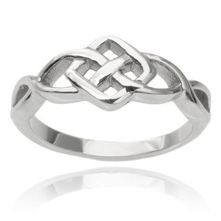 Vance Co. Men's Stainless Steel Celtic Ring