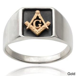 Vance Co. Men's 14k Goldplated Sterling Silver Masonic Ring