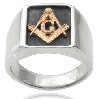 Vance Co. Men's 14k Goldplated Sterling Silver Large Masonic Ring