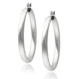 Journee Collection Sterling Silver Italian Hoop Earrings