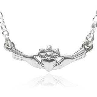 Journee Collection Sterling Silver Claddagh Pendant