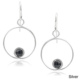 Journee Collection Sterling Silver Handmade Spiral Bead Earrings (2 options available)